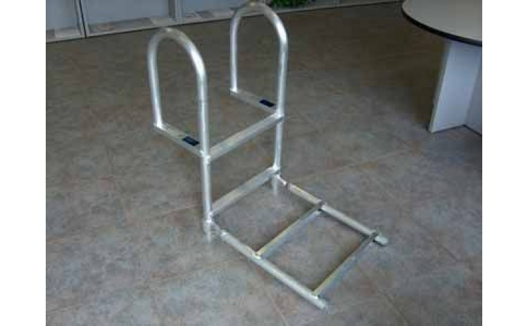 4' Aluminum Dock Ladder, Hinged