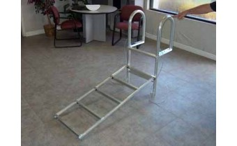 9' Aluminum Dock Ladder, Slide